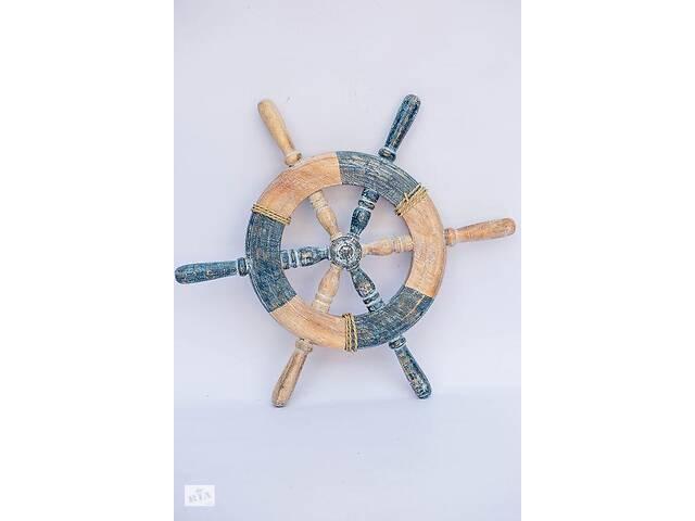 Штурвал деревянный BST диаметр 36 см декоративный 530361- объявление о продаже  в Киеве