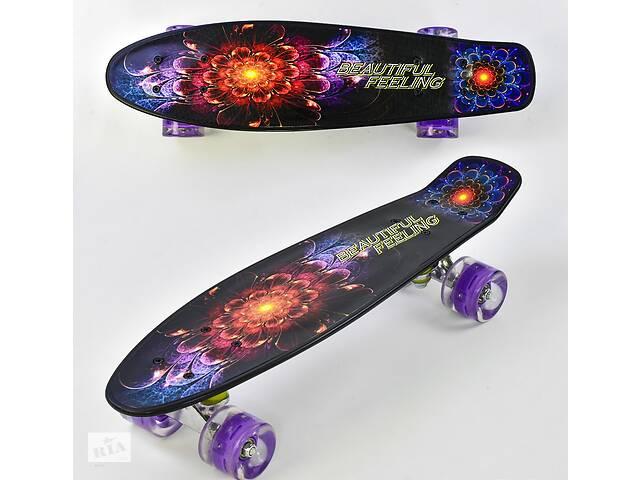 бу Скейтпенни борд Best Board F8740колеса с подсветкой доска 55 см в Львове