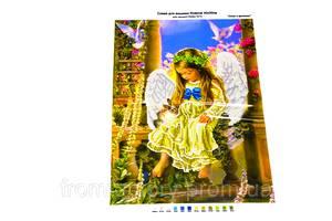 Схема для вышивания бисером А3 (на габардине/атласе с подклееным флизом):Ангел с зайкой