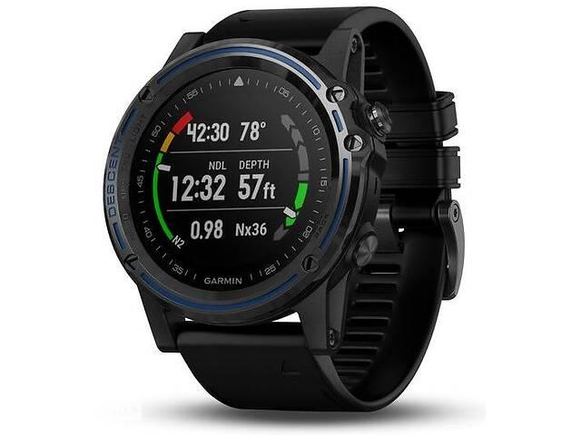 продам Спортивные часы для дайвинга Garmin Descent Mk1 Dive Computer with Black Band Gray Sapphire (010-01760-12) бу в Полтаві