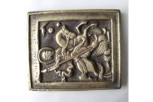 Старинный походный образок или маленькая православная меднолитая иконка