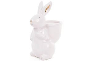 Статуэтка керамическая Умный кролик 18 см с мини-кашпо (psg_BD-945-244)
