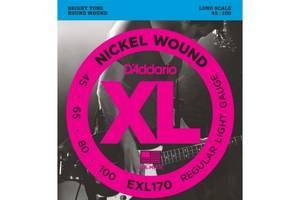 Струны для 4х струнной бас-гитары D'Addario EXL-170