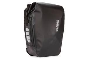 Тканевая сумка для велосипеда Thule Shield Pannier черная на 17л