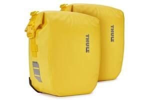Тканевая сумка для велосипеда Thule Shield Pannier желтая на 13л
