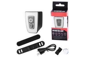 Велофонарь габаритний T11-15LED, ЗУ micro USB, вбудований акумулятор, вологозахист IPx5