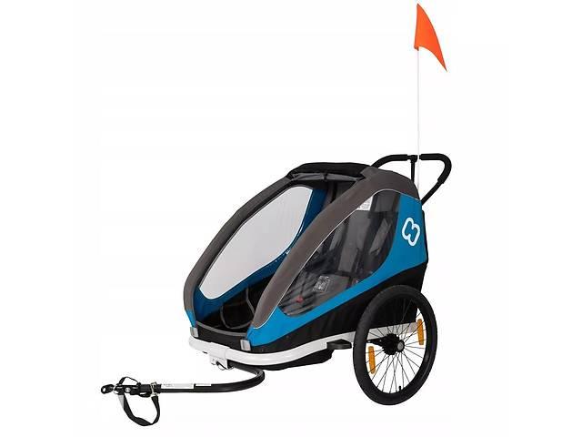 купить бу Велоприцеп Hamax Traveler двухместный многофункциональный детский Petrol Blue Grey (HAM400051) в Полтаві