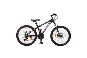 Велосипед горный Profi optimal a24.2 Черно-розовый