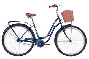 Велосипед міський з кошиком 28& quot; Dorozhnik Obsidian 2021 синій