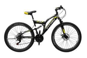 """Велосипед Titan Panther 26"""" 18"""" Чёрный-Жёлтый-Белый"""