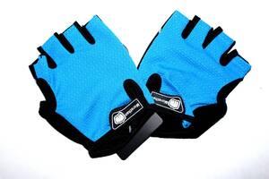 Велосипедні рукавички Feel Fit Синій