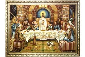 Икона Тайная вечеря из янтаря 60*80см