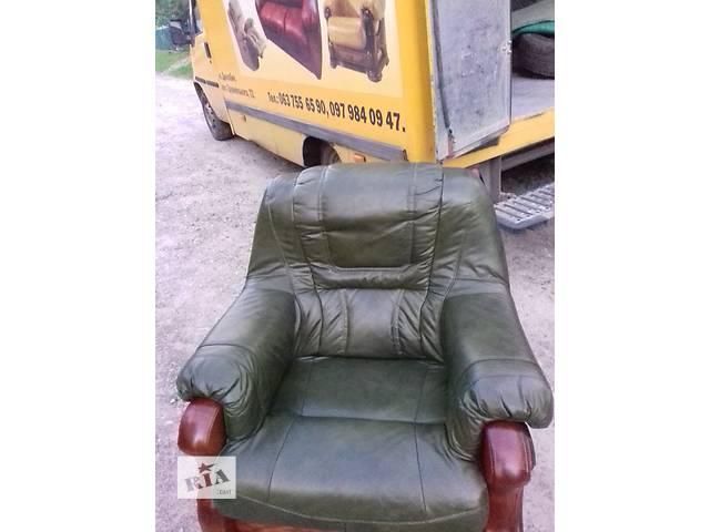 Кожаная мебель на дубе, кожаная мебель на дубовом каркасе.- объявление о продаже  в Дрогобыче