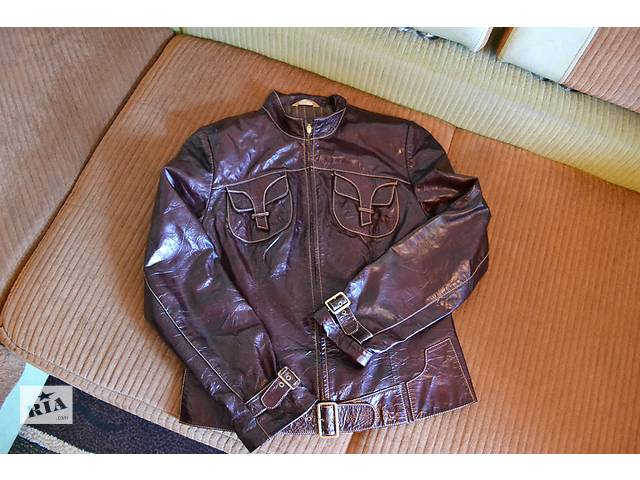 продам Кожанная лакированная куртка бу в Полтаве