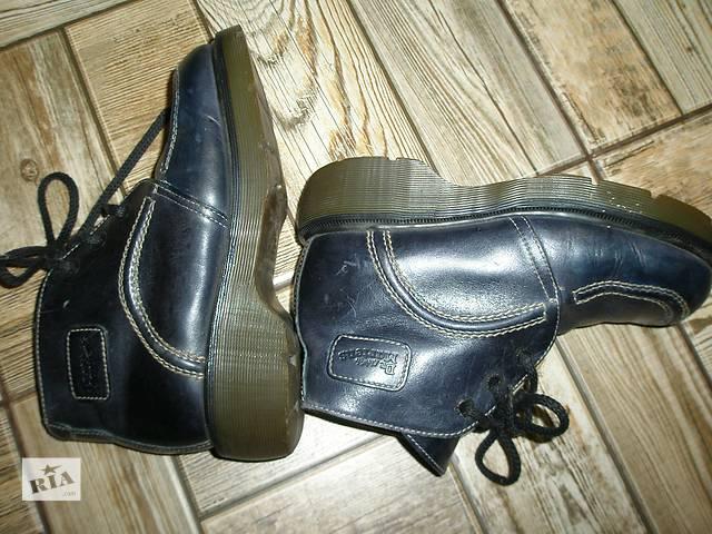 продам кожаные ботинки привезенные с Англии. 38разм/24см стелька бу в Марганце