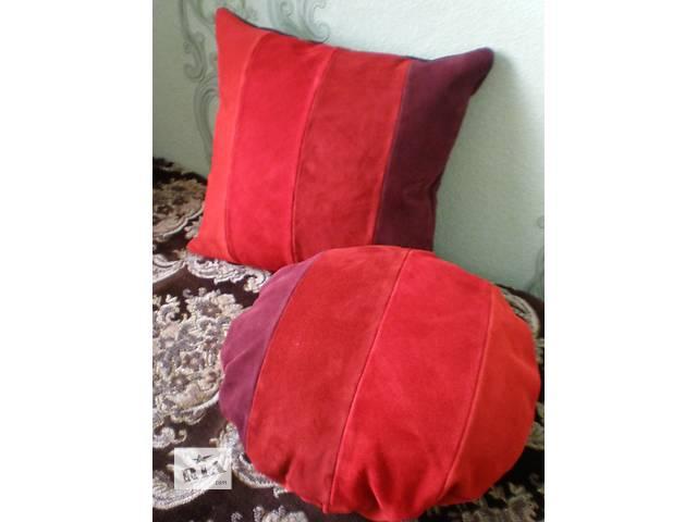 Кожаные подушки ручной работы- объявление о продаже  в Харькове
