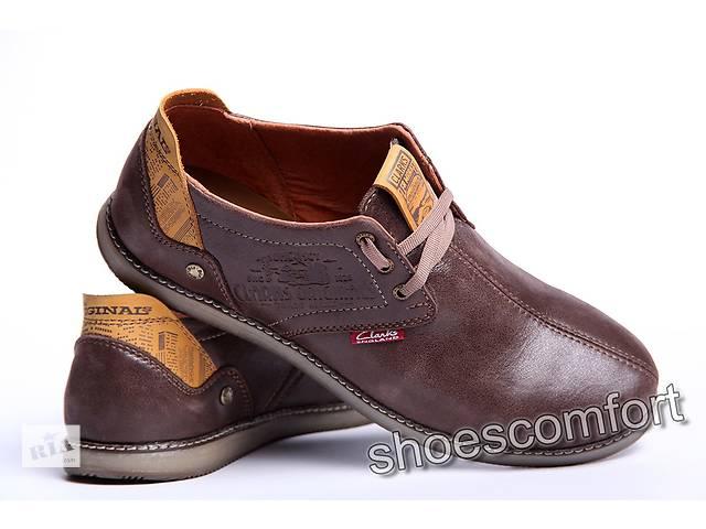 купить бу Шкіряні туфлі Clarks Desert Urban 43 к - коричневі в Вознесенську b06b423ea99f2