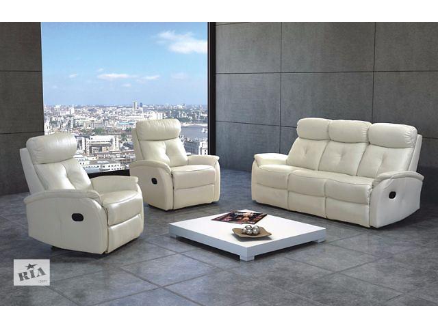 продам Кожаный диван и 2 кресла Lima 3F+1R+1R (реклайн, новые, польша) бу в Луцке