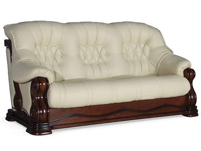 бу Кожаный уголок, диван и кресла на дубе, угловой диван + 2 кресла на дубе,кожаная мебель в Дрогобыче