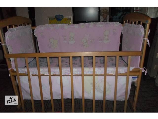 """продам кровать деревянная цв.""""ольха"""",для ребенка до 3-лет, бу в Черкассах"""