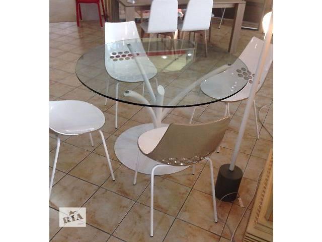 купить бу Круглый стеклянный стол Calligaris Acacia CS4071-V. реальные фото в Киеве
