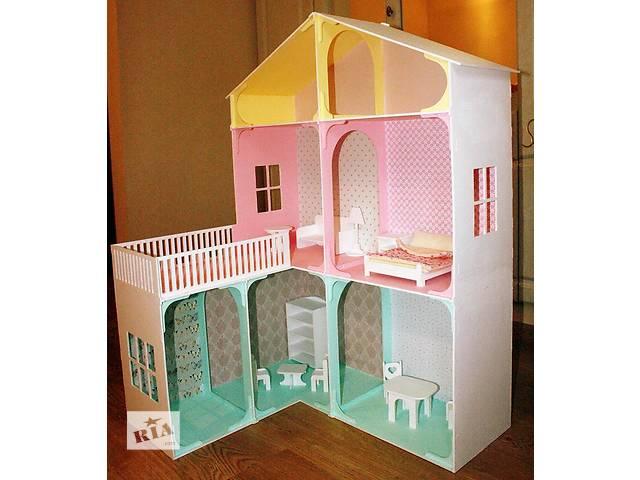 продам Кукольный домик из дерева эксклюзивного дизайна + Мебель в подарок бу в Сумах