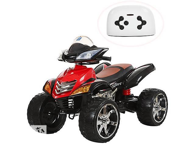 Квадроцикл детский M 3101 (MP3) EBLR-2, кожаное сиденье, красно-черный- объявление о продаже  в Одессе