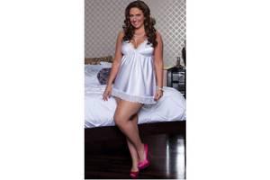 Сексуальная сорочка белого цвета  L, XL