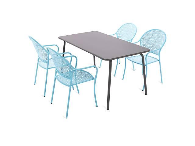 продам Металлическая мебель MAJA MIX GREY / BLUE набор 4+1 бу в Львове