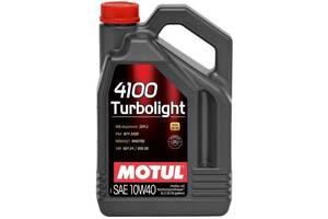 Масло Motul 4100 TURBOLIGHT SAE синтетическое 10W-40, 5л