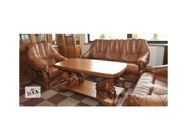 Мебель кожаная антиквариат Oskar, диван + 2 кресла- объявление о продаже  в Дрогобыче