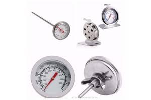 Механический Термометр кухонный пищевой из нержавеющей стали, огнеупорный
