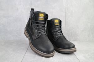 Мужские ботинки кожаные зимние черные Belvas 18127/1