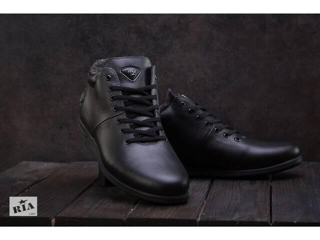 Черевики чоловічі Milord Olimp чорні (натуральна шкіра, зима)- объявление о продаже  в Хмельницькому