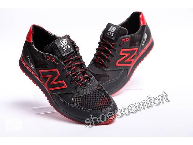 0355bea6c197 Кроссовки New Balance 875 кожа, сетка, черные с красным- объявление о  продаже в