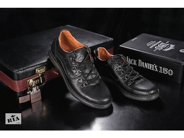 купить бу Мужские кожанные повседневные Ботинки Clarls Черные 655 ch в  Хмельницком 0e513e4e977