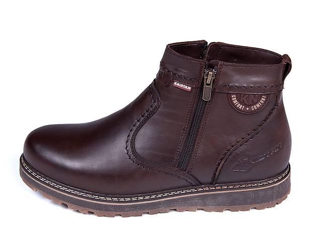 продам Мужские кожаные зимние ботинки Kristan City Traffic Brown бу в Одессе
