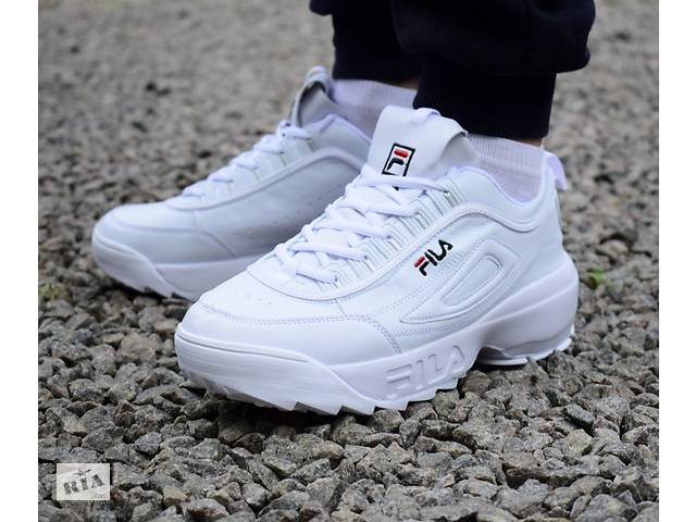 Чоловічі кросівки білі FILA Disruptor 2 0070 - Чоловіче взуття в ... 63b54bb4e5d1a