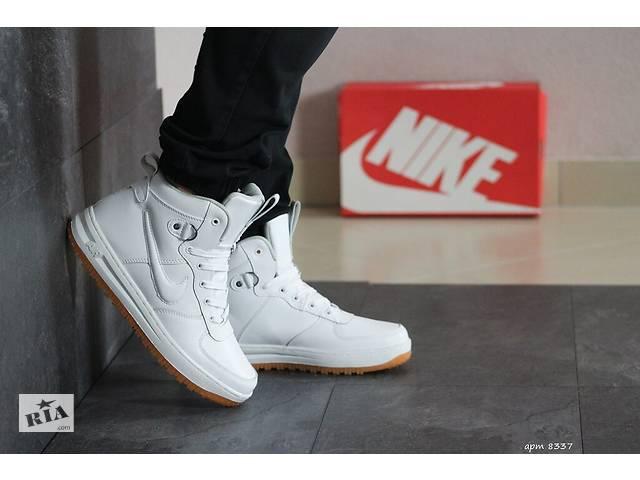 Мужские Зимние кроссовки Nike Lunar Force Winter кожаные белые- объявление о продаже  в Херсоне