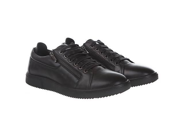 бу Туфли мужские Basconi (стильные, черные, я шнурках, с декоративными замками-молниями) в Червонограде