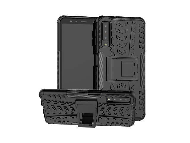 продам Чехол для Samsung A750 / A7 2018 противоударный бампер черный бу в Києві