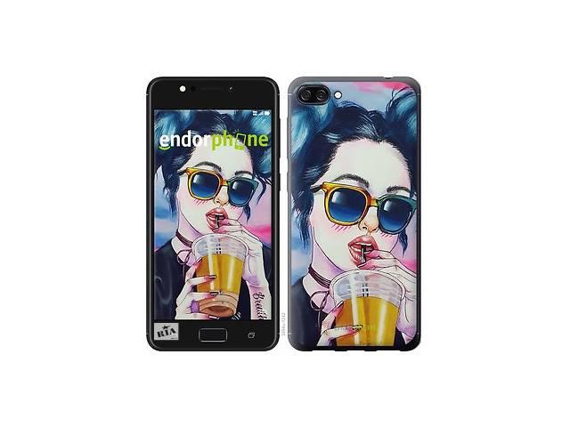 купить бу Чехол на Asus ZenFone 4 Max ZC520KL Арт-девушка в очках 3994m-1242 в Одессе