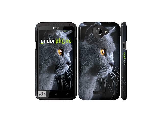 купить бу Чехол на HTC One X Красивый кот 3038c-42 в Одессе