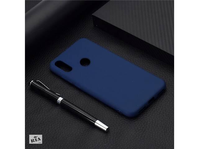Чехол Soft Touch для Huawei Y6 2019 / Y6 Pro 2019 силикон бампер темно-синий- объявление о продаже  в Киеве