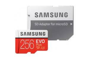 Карта памяти Samsung 256GB microSDXC class 10 UHS-I U3 Evo Plus (MB-MC256GA/RU)