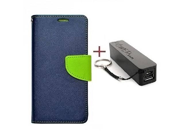 купить бу Комплект чехол книжка Goospery для HTC U Ultra синий + Внешний аккумулятор Powerbank 2600 mAh в Киеве