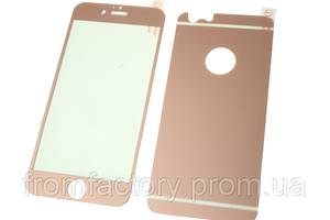 Стекло защитное цветное 2-х стор. IPhone 5/5s/SE:Pink
