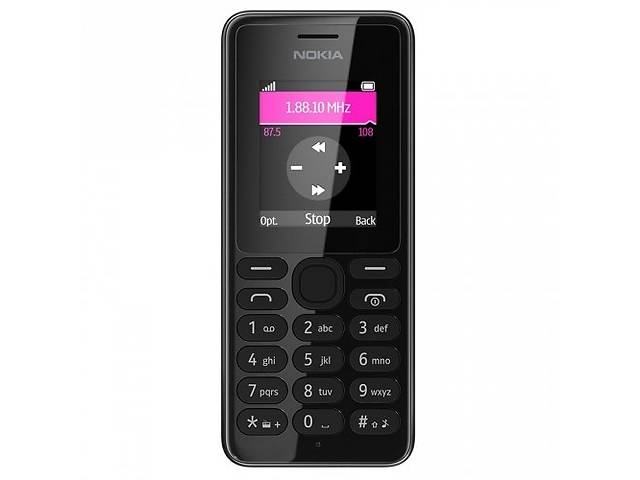 Кнопочный мобильный телефон Нокия черный Nokia 108 Black dea44796234