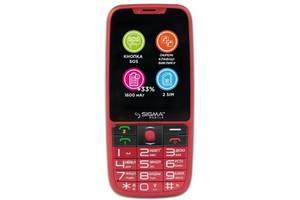 Мобильный телефон Sigma mobile Comfort 50 Elegance3 Dual Sim Red; 2.8 (320x240) TN / клавиатурный моноблок / MediaTek...