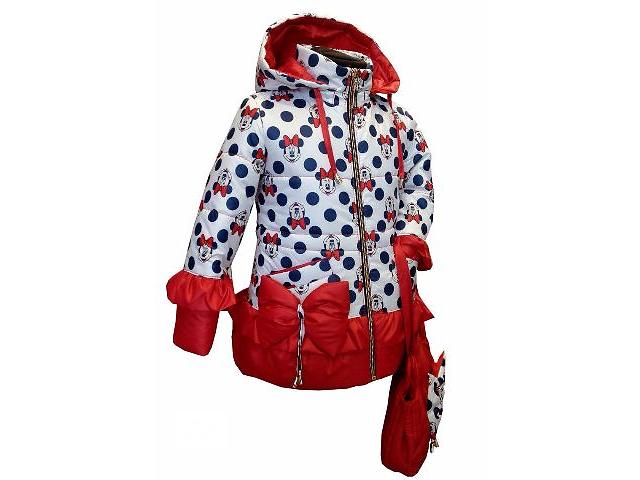 купить бу Модні дитячі весняні куртки Міккі Маус з сумочкою  6ee6756ea8b38